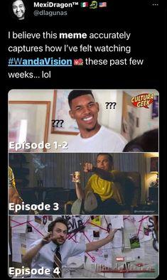 Funny Marvel Memes, Marvel Jokes, Avengers Memes, Marvel Dc Comics, Marvel Avengers, Really Funny Memes, Funny Relatable Memes, Marvel Universe, Wanda And Vision