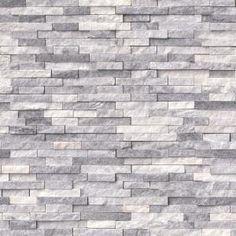 MSI Alaska Gray Split Face 12 in. x 12 in. x 10 mm Marble Mesh-Mounted Mosaic Tile sq. / - The Home Depot Mosaic Wall Tiles, Marble Mosaic, Stone Mosaic, Stone Tiles, Honed Marble, Marble Wall, Gray Marble, Tiles Texture, Stone Backsplash