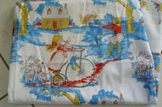 holly hobbie cotton fabric vintage 1970s american greeting 1mt 44inch wide