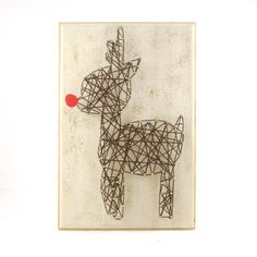 DIY kit String art – Rudolph Christmas DIY   Kolamaya