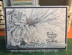 """More """"Feels Like Frost"""" Card. Once again the paper does all the work. Decorated with crystal effects and dazzling diamonds and a greeting. Stampin Up Christmas, Christmas Projects, Christmas Holidays, Christmas 2019, Tarjetas Stampin Up, Stampin Up Cards, Holiday Cards, Christmas Cards, Origami"""