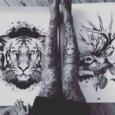 ARROGANT #Tatoo #Lion #Art Black & White
