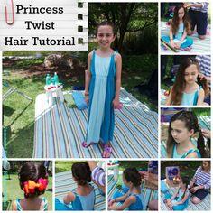 Surprisingly easy Princess Twist hair tutorial for girls | http://www.hispanaglobal.net/surprisingly-easy-princess-twist-hair-tutorial-girls/