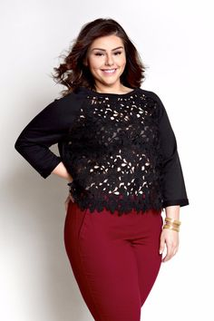 Plus Size Clothing for Women - Loey Lane Crochet Countdown Top (Sizes 14 - 20) - Society+ - Society Plus - Buy Online Now! - 1