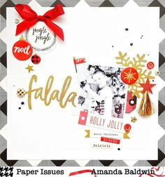 FaLaLa layout by Amanda Baldwin for @paperissuesteam #workingtitle challenge features Crate Paper FaLaLa collection