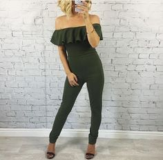 Serve The Sass In Our Off The Shoulder Leigh Jumpsuit NOW ONLY £21.95
