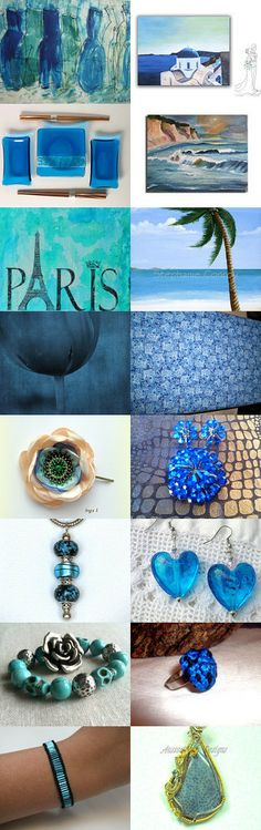 BLUE  AS  THE  SEA by Anne Marie on Etsy--Pinned with TreasuryPin.com