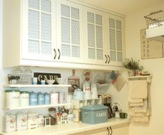 love the cabinets and towel rack. so cute!