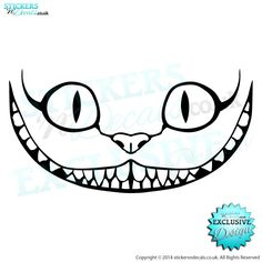 Disney Alice In Wonderland - The Cheshire Cat - Character Wall Art - Vinyl Wall Decal - Window Sticker - Disney Wall Art