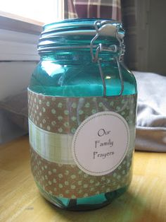 Lent-themed prayer jar - printable prayers - one to use each day of the lent season (Catholic blogger)
