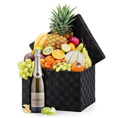 Seasonal Deluxe Exotic Fruit Hamper & Champagne