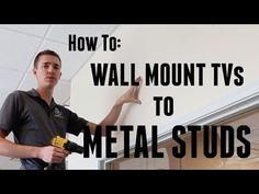 Wall Mounting a TV to metal studs is slightly more difficult than mounting to wood studs. However, in this video I show you a simple and secure way to wall m...