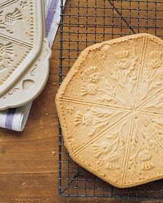 For this Scottish variation of our Classic Shortbread, the dough is baked in a stoneware mold. Scottish Shortbread Cookies, Christmas Baking, Christmas Cookies, Christmas Recipes, Christmas Desserts, Christmas Ideas, Holiday Baking, Christmas Tree, Crack Crackers