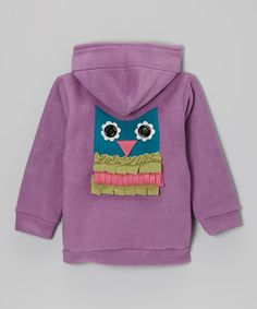 This Orchid Owl Fleece Zip-Up Hoodie - Infant, Toddler & Girls is perfect! #zulilyfinds