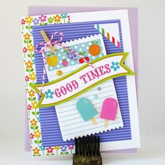 Good Times by Kathy Martin for Doodlebug using the Take Note Collection