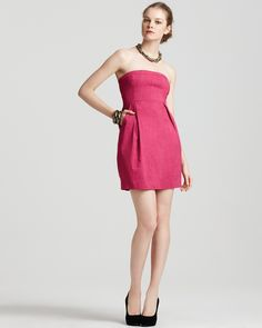 Theory Dress - Tyrah Crunch Strapless   Bloomingdale's