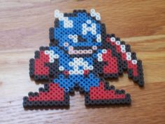 Captain America Megaman Style by ~simplyputmyself on deviantART