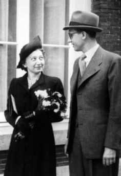 I hope one day to be as selfless as they were.  Miep and Jan Gies in Amsterdam on their wedding day, July 16, 1941.