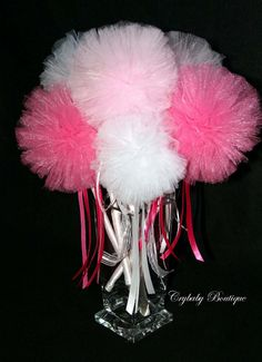 Princess Party Favors  Tulle puff fairy wands