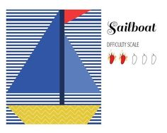 Sailboat paper pieced quilt block | Craftsy