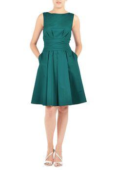 Jasmine dress #eShakti #fitandflare #chic #daydress