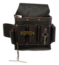 Electrician Pouch Tool Pocket Belt Holder Leather Bag Professional Work NEW