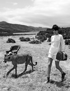 l'âme du voyage: edie campbell and karen elson by peter lindbergh for w special edition may 2014