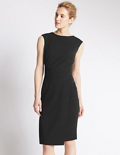 Asymmetric Hem Shift Dress | M&S