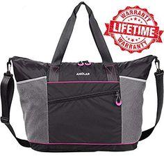 Gym Bag- Yoga Bag- Gym Yoga Tote Bag for Women with Roomy Pockets Review b211e5531b