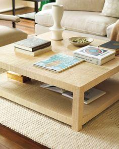 "Blake Raffia Rectangular Coffee Table - Serena & Lily Site  $1595 47 x 47 x 15.5"""