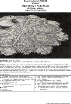 Photo: Square Doily In Knitted Lace