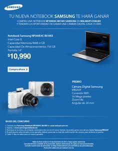 Gánate una cámara fotográfica al comprar una Laptop Samsung, checa aquí las bases de la trivia.