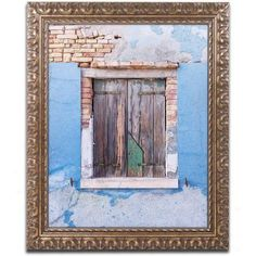 Trademark Fine Art Once Blue Canvas Art by Michael Blanchette Photography Gold Ornate Frame, Assorted