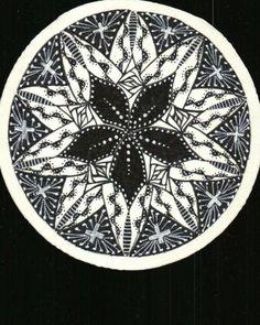 Zentangle Zendala #4, created by C. Bishop, CZT