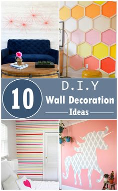 DIY wall decoration ideas to make your wall look so awesome!