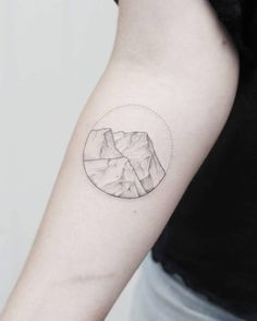 Soft mountain range tattoo by Phoebe Hunter