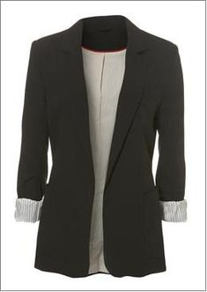 black blazer for women | The black boyfriend blazer: