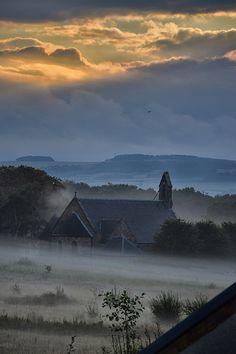 Misty.  Midlothian countryside, Scotland