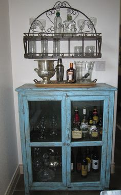 Bar cabinet by The Decorating Duchess