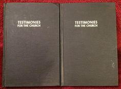 Ellen G White Duo: Testimonies for the Church Volume 1 ~ Volume 5 HC Black 1948