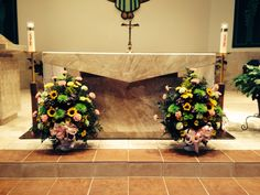 Church Flowers at Prince of Peace Catholic Church in Sum City Center, FL