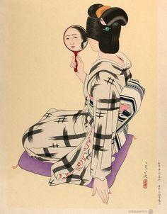 Shimura TATSUMI 志村立美 (1907-1980) is known for designing several striking bijin-ga prints towards the end of the shin hanga movement. Born in...