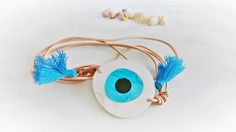 Protective Eye Bracelet Greek Evil Eye Bracelet Tassel Wrap