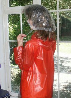 Red Raincoat, Plastic Raincoat, Lorraine, Rain Bonnet, Clear Umbrella, Plastic Mac, Rain Hat, Bronze, Raincoats For Women