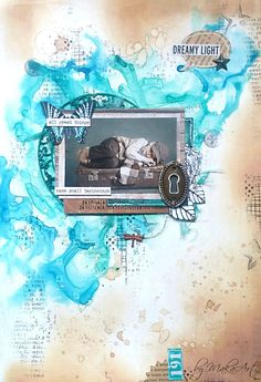 My mixed media art journal page... Welcome to my blog!      Today I would like to show you my third mixed media art journal page made for a wonderful project called Art journ...