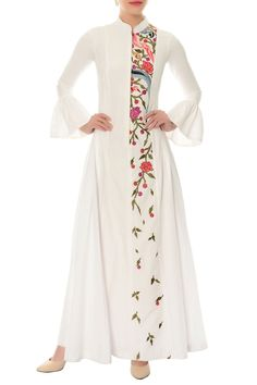 Buy Ivory floral embroidered maxi dress by Rishi and Soujit at Aza Fashions Buy Ivory […] The post Buy Ivory floral embroidered maxi dress by Rishi and Soujit at Aza Fashions appeared first on How To Be Trendy. Kurta Designs Women, Kurti Neck Designs, Blouse Designs, Kurti Embroidery Design, Embroidery Dress, Embroidered Dresses, Indian Designer Outfits, Designer Dresses, Casual Dresses