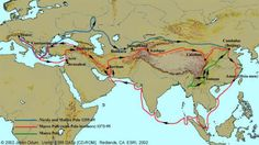 Map Depicting Marco Polo's Travels