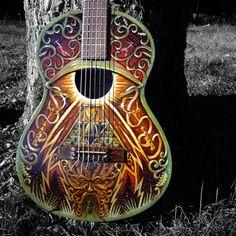 Haunting guitar art