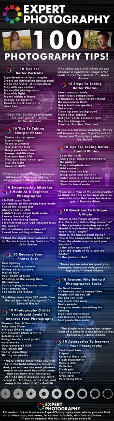 100 Photography Tips - Click image to find more Photography Pinterest pins by mona