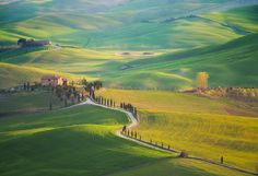 Timeless Tuscany, cultivated for eons, site of old fortified hill sites, and winding country roads.